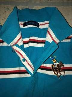 Polo Shirt blue stripes #20under