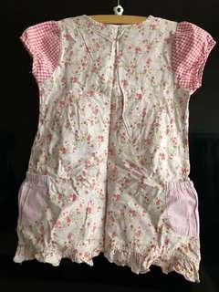 pink floral short sleeve blouse #20under