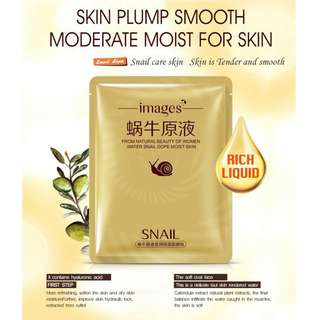 IMAGES Snail Mask Face Care For whitening Moisturizing Facial Mask Antioxidant Anti Aging Anti Dry Skin Beauty Nourish Essence