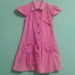 Baju anak tanggung pink 10-12th