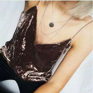 Suede tanktop import size S
