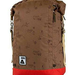 POLER ROLLTOP CAMPALOGUE BISON/BRIGHT RED