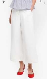 White Wide Leg High Waist Pants