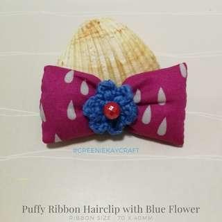 Girl's Puffy Ribbon Hairclip
