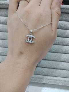 🚚 🌈香港正生純銀💕小C鑽鑽鑽項鍊⭐️
