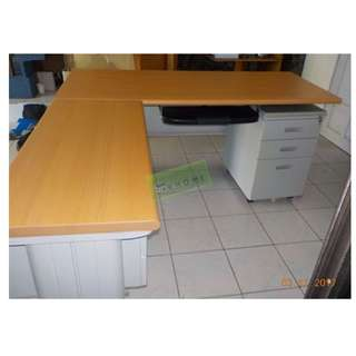 L TYPE EXECUTIVE TABLE WITH MOBILE AND KEYBOARD--KHOMI
