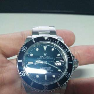 二手 Rolex 16610 submariner 舊裝 全齊 有盒紙 正常使用花痕
