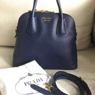 Prada Saffiano Satchel Shoulder Bag