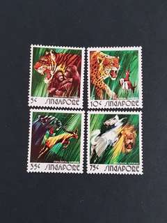 Singapore Stamp. 1973 Animal Series (mint hinged).