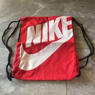 Nike Red Drawstring bag