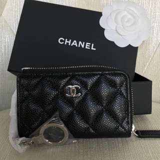 Brand New Chanel Caviar Cardholder/Key Pouch
