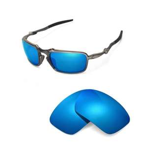 42a8a0d6dd Badman Ice Blue POLARIZED Walleva Replacement Lenses for Oakley Badman  Sunglasses
