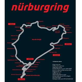 Nurburgring Track Data Wall Poster 80 x 60 cm