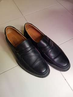 Black Leather Shoes Size 40