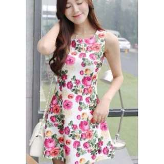 Floral CNY dress rose flower spring summer