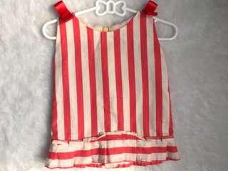 Stripe orange dress