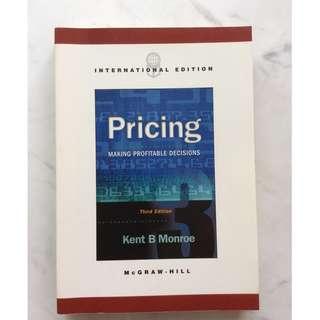 Pricing by Kent B Monroe