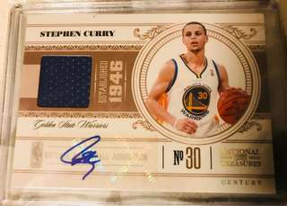 10-11 National Treasures STEPHEN CURRY 國寶 限量25張