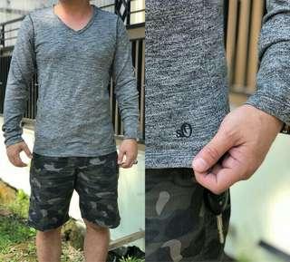 kaos pria branded murah Soliver Grey Branded