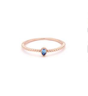 """""""Bluebell Ring"""" in rose gold plated band"""