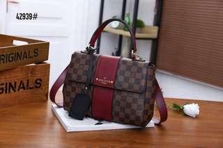 51be72f520e4b1 LV Louis Vuitton Bond Street Bag 42939#22 Bahan pvc waterproff Di kombi  dengan kulit
