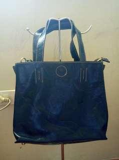 Preloved Blue Leather Bag