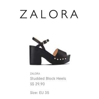 ZALORA Black Studded Platform Shoe