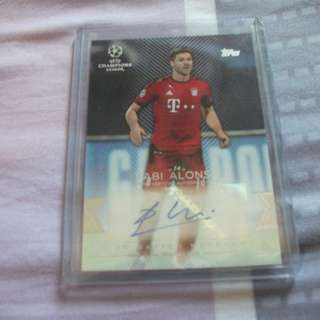 Xabi Alonso Topps Showcase Champions League 15/16 Autographed Card