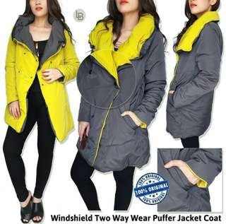 Jaket Branded Murah windshield two way wear puffer jacket coat