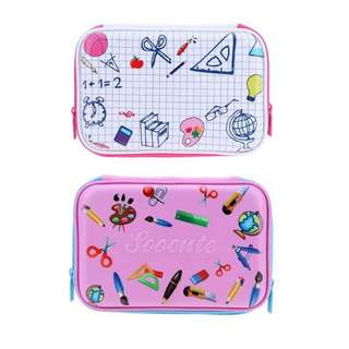 Elegant Stationery Hardtop Pencil Holder Cute EVA Pencil Case With Big Capacity For Student Kids