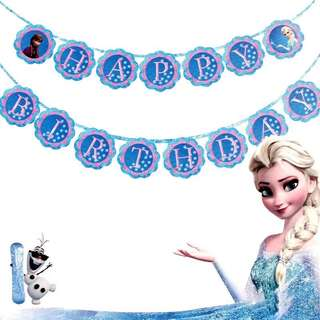 ❄️ Frozen party supplies - birthday banner bunting / party deco