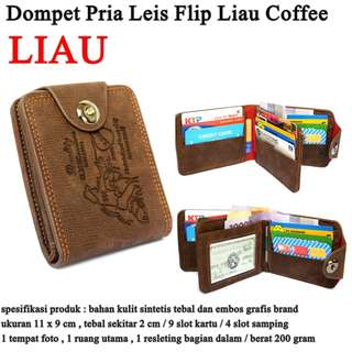 Dompet Murah Pria Kulit Leis Flip Coffee