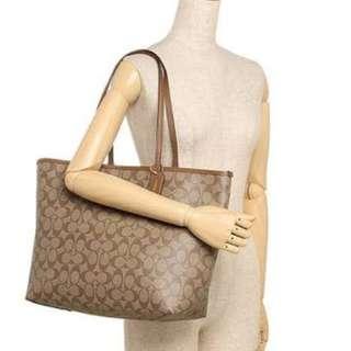 Coach Reversible Tote Shoulder Bag