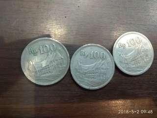 Uang kuno 100 rupiah logam
