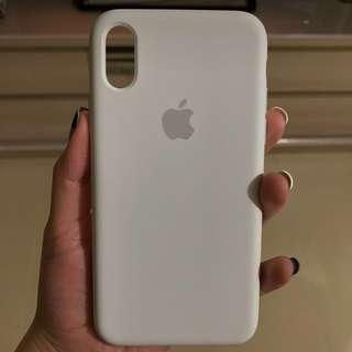 Apple 原裝正版IPHONE X殼 白色矽膠