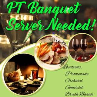Banquet Servers Wanted @ Promenade | $10 per hour | Can work with friends