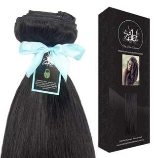 NATURAL BLACK CLIP IN HAIR EXTENSIONS- #1B- 24INCH 100% HUMAN REMY HAIR 130G/250GR