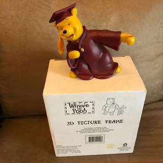 Winnie The Pooh畢業 3D Photo Frame