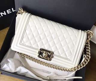Boy Chanel white