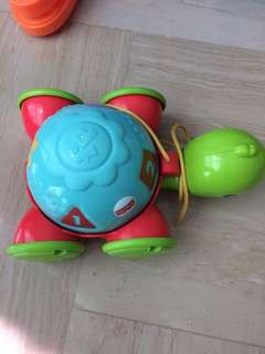 Fisher price pulling turtle