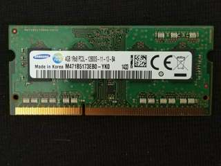 WTS:2x4GB DDR3 Ram for notebook