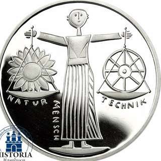 10 Mark 2000德國 - 2000年世博會 925銀幣 10 Mark 2000 Deutschland - Expo 2000 925 silver coin