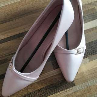 Pointed Satin Pumps