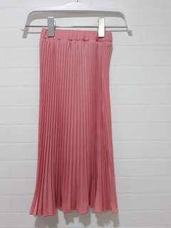 Long Angeline wide pleats skirt