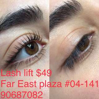 Eyelash Extensions, Lash lift / tint or perm