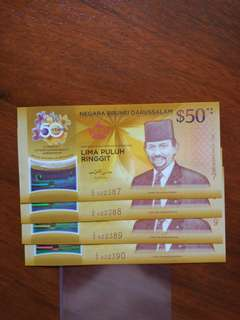 CIA50 $50 88 fancy number Brunei 4 runs