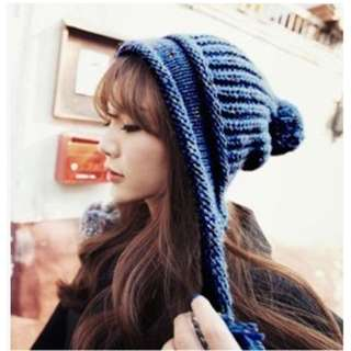 Women's Winter Cable Knitted  Beanie Hat Earflap