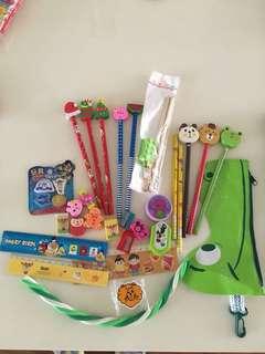 Children's misc stationery eraser, rulers, pencil case