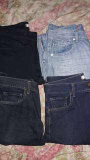 Take your pick 350 each: Uniqlo and H&M pants jeans