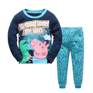 Peppa pig pajamas for Age 3-7 yrs Old